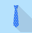 stars tie icon flat style vector image