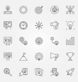 startup icons set start-up business vector image vector image
