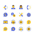support service and telemarketing icon set in vector image