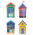 surfer houses or usa bungalow with board vector image