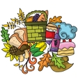 Thanksgiving doodle art design vector image vector image