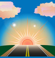 the way to sunset vector image