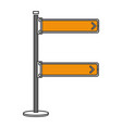 traffic signal turn the right vector image vector image