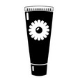 tube cream icon simple black style vector image vector image