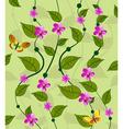 vines flower pattern vector image