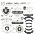 Vintage Design Elements Arrows Retro Typography vector image
