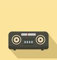 vintage fm radio icon flat style vector image