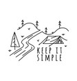 vintage keep it simple logo design outdoor vector image vector image