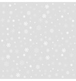 Winter Christmas seamless texture with snowflakes vector image vector image