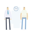 work and home time vector image