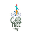 world car free day vector image vector image