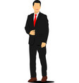 young handsome man businessman vector image