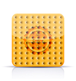 cookies app icon on white background Eps 10 vector image