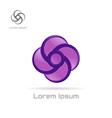 logo violet swirl element vector image