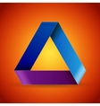 Moebius origami colorful paper triangle vector image