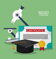 collection science biology icons vector image