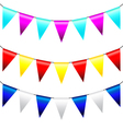 Multi Colored Triangular Flags vector image