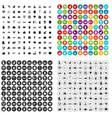 100 farm icons set variant vector image