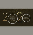 2020 new year happy card background party vector image vector image