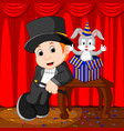 a magician performing on a stage vector image vector image