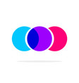 abstract colorful circles logotype three element vector image