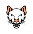 albino laboratory mouse mascot vector image vector image