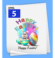 An April 5 celebration vector image vector image