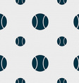 baseball icon sign Seamless pattern with geometric vector image vector image
