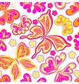Beautiful background seamless pattern with flying vector image vector image