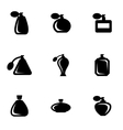 black perfume icon set vector image vector image