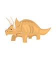 brown styracosaurus dinosaur character jurassic vector image