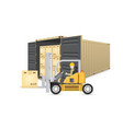 cargo container vector image vector image