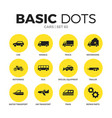 cars flat icons set vector image vector image