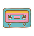 cassette icon cartoon vector image