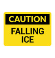 caution falling ice snow danger icon warning vector image vector image