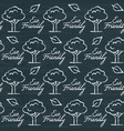 chalkboard seamless pattern with eco friendly text vector image vector image
