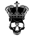 character - skull king and crossed royal vector image vector image