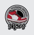 design shoes logo vector image