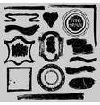 Distressed Stamps setGrunge badgeslabelsframe vector image vector image