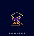 eagle house template vector image vector image