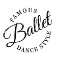 Famous dance style ballet stamp vector image vector image