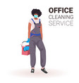 female professional office cleaner woman janitor vector image vector image