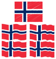 Flat and Waving Hand Draw Sketch Flag of Norway vector image vector image