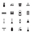 flat housework icons set vector image vector image