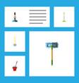 flat icon mop set of broomstick broom equipment vector image vector image