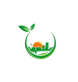 Green town urban city environment logo