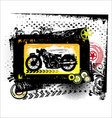 grunge motorcycle - background vector image vector image