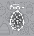 happy easter card background with decoration egg vector image vector image