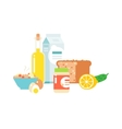Healthy food vector image vector image