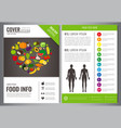 healthy lifestyle brochure design template vector image vector image
